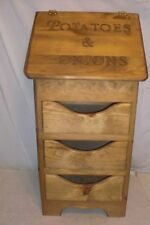 potatoe and onion bin large size now with 3 drawers  regular style