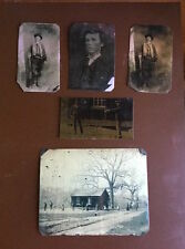 Billy the Kid Lot of 5 Tintypes
