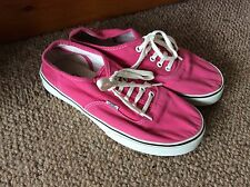 Womens Pink Vans Trainer Eu Size 38 Uk Size 5