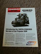 Yanmar Marine Diesel Engine 2GM20 18 HP Dealer Sales Brochure Specification