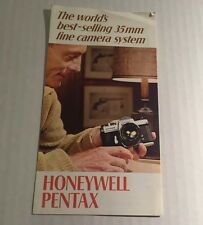 Vintage Honeywell Pentax 35mm Film SLR Camera Systems - Genuine Retail Brochure