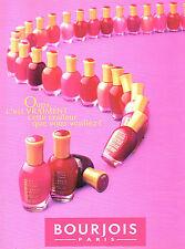 Publicité Advertising 1997  BOURJOIS vernis à ongles anti-choc maquillage .