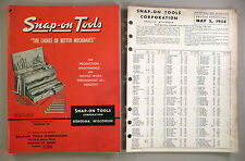 """Snap-On Tool CATALOG """"W"""" - 1958 ~~ with its Price List ~~ tools"""