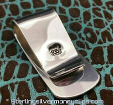 35.8g BIG SLEEK CLASSIC Argentium 925 935 Sterling Silver Money Clip USA
