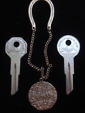 "AMERICAN MOTORS RAMBLER ""Magic Key Chain"" + Briggs & Stratton KEY BLANK SET AMC"