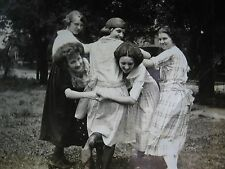 ANTIQUE VINTAGE FINE DETAIL ARTISTIC FLAPPER ERA GIRLS HAIRNET BEAUTIES PHOTO