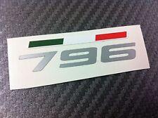 1 Adesivo Stickers DUCATI 796 fianchetto serbatoio con bandiera tricolore
