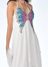NWT CINDERELLA #5816 BUTTERFLY HI LO PROM FORMAL DRESS EVENING GOWN 6