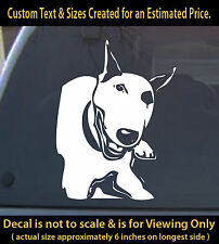 Bull Terrier dog 6 inch Decal pitbull animal pet lover for car home laptop more