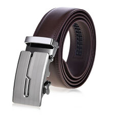Vbiger Leather Belt Automatic Buckle Waist strap Waistband Brown for Men