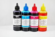 4 Botellas de Tinta Premium compatibles con hp,lexmark,brother,canon de 100 ml