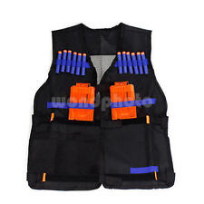 Adjustable Vest Jacket for Kids Gun Foam Dart Clip Nerf N-Strike Elite Team Toys