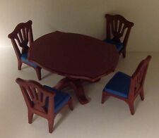"Playmobil Victorian Dollhouse Dining Table & 4 Chairs ""NEW"""