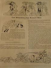 Les Mémoires d'un Renard Bleu Print Art 1907