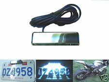 5 LED Chrome Motorcycle Plate Tag Light License Number Rear Sport Bike Tuono