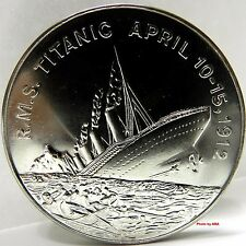 1998 R.M.S Titanic Sinking! 5 Dollars Crown Coin UNC Somaliland