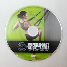 GOLD'S GYM Suspension Body Weight Trainer Lower Body Workout DVD Exercise TRX