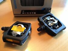 Shimano PDT400  schwarz Klickpedale mit Cleats Trekkingpedale SPD Pedale