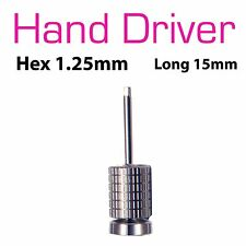 Hand Hex Drivers 1.25mm For Dental Implant Abutment Screw 15mm
