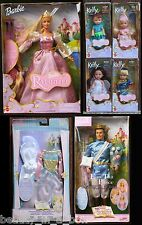 Rapunzel Barbie Doll Prince Ken Tommy Peacock Kelly Angel Fashion Together Lot 7