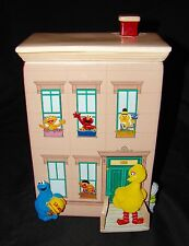 SESAME STREET Building Ceramic Cookie Jar Snuffleupagus Big Bird Oscar Monster