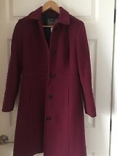J.Crew Lady Day Coat with Thinsulate Sz 4 p - Burgandy Pinot Noir