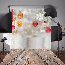 5x7FT Vinyl Christmas Gift Wood Floor Photo Backdrop Photography Background Prop