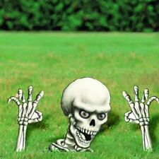 Haunted Halloween Horror Buried Skeleton Garden Yard Lawn Sign Party Decoration