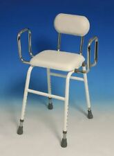 4 in 1 Perching Resting Ironing Stool Disability Aid With Removable Back & arms