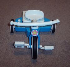 Mattel Doll Tricycle Toy 1998 Blue Bike Interactive Motorized Baby Trike N Go GU