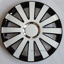 16'' Wheel trims Hub Cups for Van Vauxhall Vivaro 4 x 16'' white - black