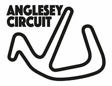 ANGLESEY RACE CIRCUIT. Car vinyl sticker F1 Wales Grand Prix Trac Môn