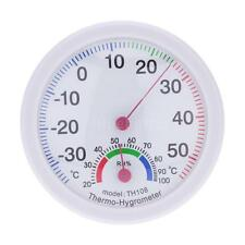 TH108 Analog Thermometer Hygrometer Temperature Humidity Meter Tester Indoor Use