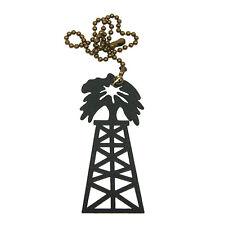 Oil Derrick black metal ornament/fan pull