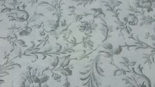LAURA ASHLEY IRONWORK SCROLL DOVE GREY COTTON FABRIC MATERIAL 2 metres