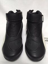 Puma Flat 2 V2 Men's Black/White Motorcycle Boots Size 38 EU, 6 US, 301462-09-38