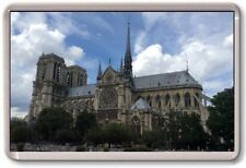 FRIDGE MAGNET - NOTRE DAME - Large Jumbo - Paris France SIDE