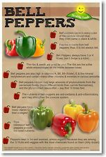 Healthy Foods - Bell Peppers - NEW Nutrition Healthy Foods Diet POSTER