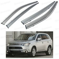 Front & Rear Window Visor Vent Shade Guard for Mitsubishi Outlander 2013-2016