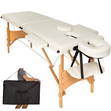 Table banc 2 zones lit de massage pliante cosmetique esthetique beige + sac