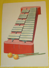 Alphabetic Flash Card Letter X Is For Xylophone Art Work Platt & Munk Great Pic!