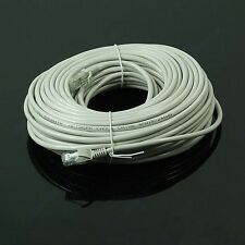Gray 30M 100 FT RJ45 CAT5 CAT5E Ethernet Internet LAN Network Cord Cable