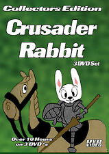 Crusader Rabbit-3 DVD-R Set-Over 10 Hours with DVD Menus