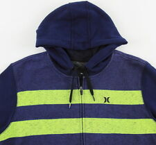 Men's HURLEY Blue Gray Hooded Hoodie Sweater Sweatshirt Large L NWT NEW Awesome!