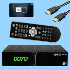NEWLine ONE HD+ Full HDTV receptor de Satélite Plus Mapa HD03 Alemán Privado HD