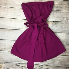 Express Strapless Mini Dress Size Xs Wine Color