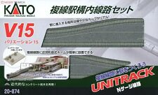 New Kato Unitrack  20-874 V15 Double Track Set For Station