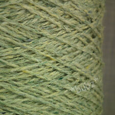 WOOL MOHAIR VISCOSE YARN 250g CONE 5 BALL PALE GREEN ARAN DK DOUBLE KNIT WEAVING