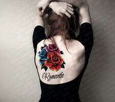 Temporary Tattoos Large Romantic Rose Body Art Tattoo Sticker Women Makeup Tatoo