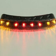 Wireless 8 LED Motorcycle Bike Helmet Turn Signal Brake Stop Light Universal 12V